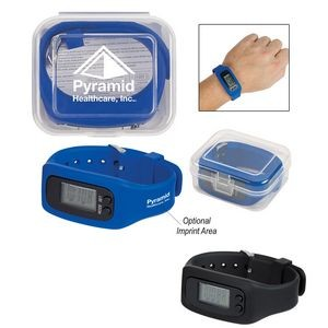 Digital LCD Pedometer Watch In Case